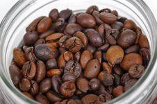 Free Coffee Bean Inside Glass Jar Royalty Free Stock Image - 15072696