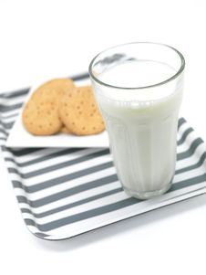 Free Cookies And Milk Stock Images - 15072984