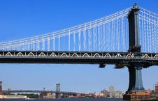 Free New York City Bridge Royalty Free Stock Image - 15073096