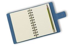 Free Notebook Isolated On A White Background Royalty Free Stock Photos - 15073308