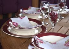 Free Dinner Place Setting Royalty Free Stock Photos - 15073608