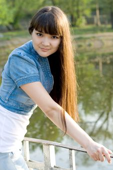 Free Girl Walking In Park Royalty Free Stock Images - 15074159
