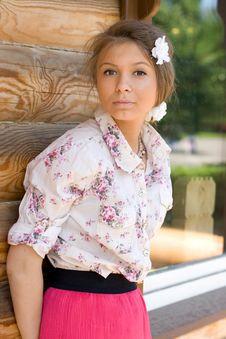 Free Girl  On A Veranda Stock Photos - 15074413