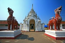 Free Sigha Guarding The Entrance To A Temple In Lumphan Stock Photos - 15074423
