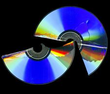 Free Broken Cd Rom Scan Royalty Free Stock Photo - 15074695