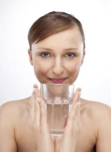 Free WOMAN WITH GLASS OF WATER Royalty Free Stock Images - 15074739