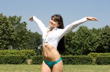 Free Girl In Bikini Sunbathing Royalty Free Stock Photography - 15074877