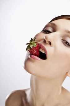 Free WOMAN WITH STRAWBERRY Stock Photo - 15074880