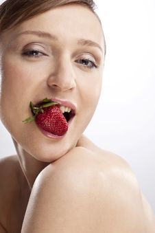 Free WOMAN WITH STRAWBERRY Stock Photos - 15074923