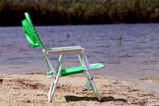 Free Green Beach Chair Royalty Free Stock Photography - 15075437