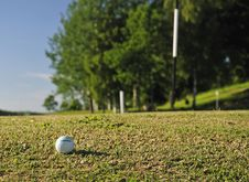 Free Golf Ball On The Right Way Royalty Free Stock Photo - 15075625