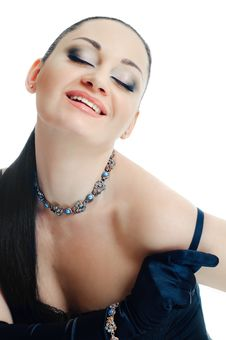 Free Closed Eyes And Necklace Royalty Free Stock Image - 15075776