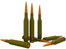 Free Ammunition For A Rifle Stock Photography - 15075892