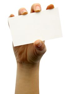 Free Card Blank Stock Photography - 15076012