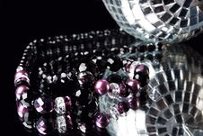 Free Beads With Disco Ball Royalty Free Stock Photography - 15076727