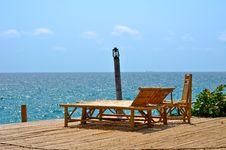 Free Bamboo Chairs Near Sea Stock Photography - 15077002