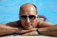 Free Portrait Of A Young Man On The Swimming Pool Stock Photo - 15077080