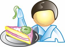 Cake Decorator Icon Stock Photo