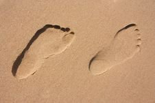 Free Footprints In The Sand Royalty Free Stock Images - 15078149