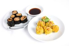 Deliciously Steamed Chinese Dim Sum Stock Photos