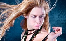 Free Beautiful  Lovely Woman With Necklace  Posing Royalty Free Stock Photos - 15078358