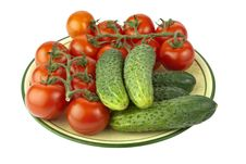 Free Tomatoes & Cucumbers Stock Photography - 15078792