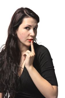 Constraining Woman Stock Photo