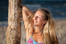 Free Atural Caucasian Blond Woman Portrait Royalty Free Stock Images - 15079029
