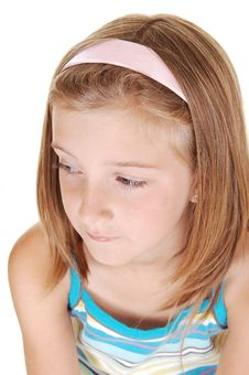 Pretty Blond Girl. Royalty Free Stock Image