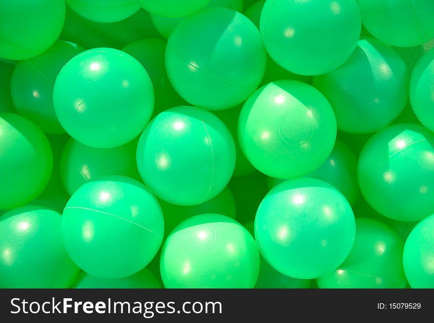 Green funny balls