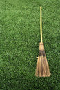 Free Broom On Green Grass Stock Photo - 15082760