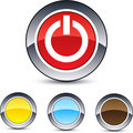 Free Power Round Button. Royalty Free Stock Image - 15083426