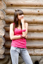 Free Girl Standing Near Wall Stock Photography - 15085532