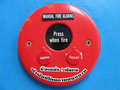 Free Red Fire Alarm Bell Sign  On The Blue Wall Stock Photography - 15086412