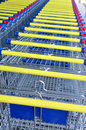 Free Row Of Shopping Carts, Detail Royalty Free Stock Image - 15087176