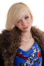 Free Pretty Smiling Blond Wearing Fur Coat Stock Photo - 15087610