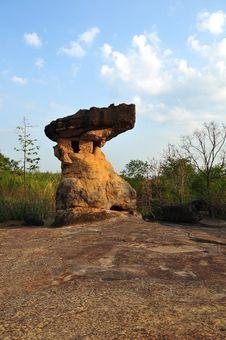 Free Strange Stone, Phu Phra Bath , Udonthani , Thailan Royalty Free Stock Photos - 15080078