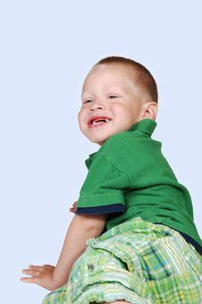 Young Boy Has Fun. Stock Photos