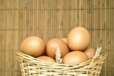 Free Eggs In Wicker Basket Royalty Free Stock Photo - 15080275