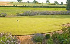 Free Putting Green In A Garden. Stock Photos - 15080703