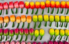 Free Tulips Made Of Wood Stock Photos - 15080863