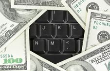 Free Computer Keyboard And Money Stock Photo - 15081190
