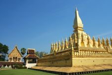 Free Phra That Luang Royalty Free Stock Image - 15081376