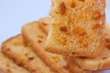 Free Crunchy Bread With Sugar Stock Photography - 15081522