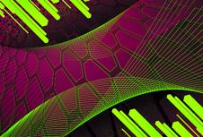 Free Background Of Hexagons With Diagonal Bars In Citri Stock Image - 15081671