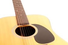 Free A 12 String Acoustic Guitar On A White Background Stock Photos - 15081973
