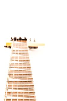 Free A Six String Electric Guitar Isolated On A White Stock Photography - 15081982
