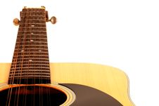 Free A 12 String Acoustic Guitar On A White Background Stock Image - 15081991