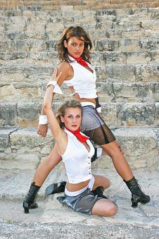 Modern Dancers Royalty Free Stock Photos