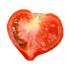 Free Tomato In The Shape Of A Heart Royalty Free Stock Images - 15082089